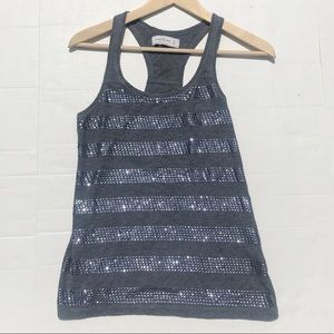 Abercrombie & Fitch Gray Embellished Tank Top